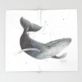 Humpback Whale Throw Blanket
