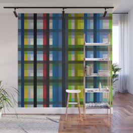 colorful striking retro grid pattern Nis Wall Mural