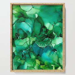 Into the Depths of Sea Green Mysteries Serving Tray