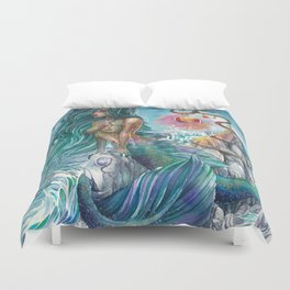 Witch of the oceans Duvet Cover