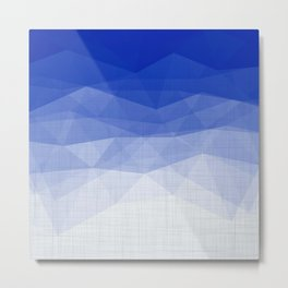 Imperial Lapis Lazuli - Triangles Minimalism Geometry Metal Print