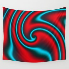 Fire Mint Ribbon Candy Fractal Wall Tapestry