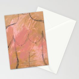 Nude Abstract Couple: His Stationery Cards