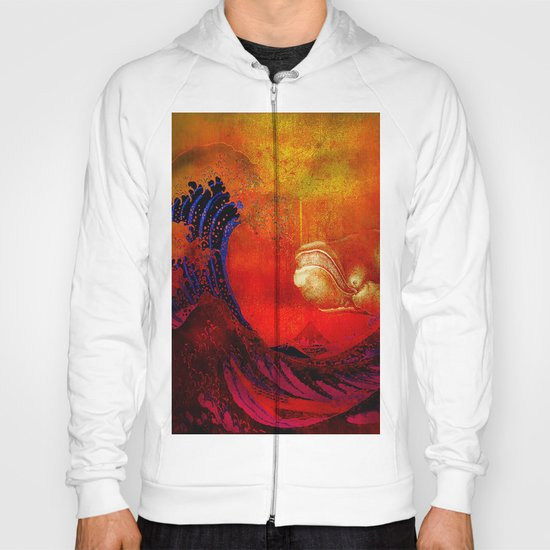 The whale and the wave Hoody