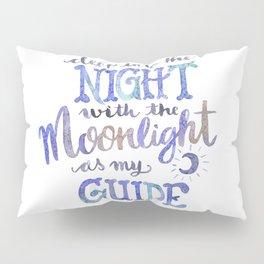 Watercolor Moonlight Lettering Pillow Sham