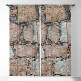 Old vintage abstract granite wall Blackout Curtain