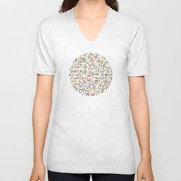 Colorful Explosion of Dots Unisex V-Neck