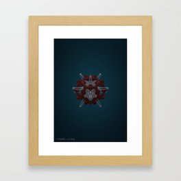Abstract Fabric and Stone Framed Art Print