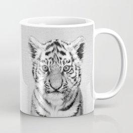 Baby Tiger - Black & White Coffee Mug