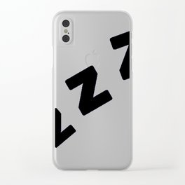 Zzzs in Black Clear iPhone Case