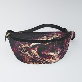 velociraptor dinosaur close up wsls Fanny Pack