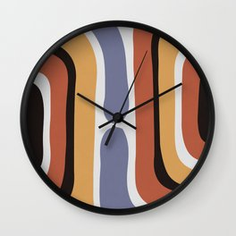 Reverse Shapes II Wall Clock
