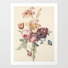 Henriëtte Geertruida Knip - a bouquet - 1820 Art Print