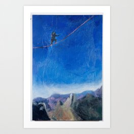 Chasing Highlines Art Print