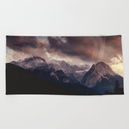 Cross Mountains #sunset Beach Towel