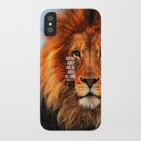 narnia iPhone & iPod Cases featuring BOLD AS LIONS by Pocket Fuel