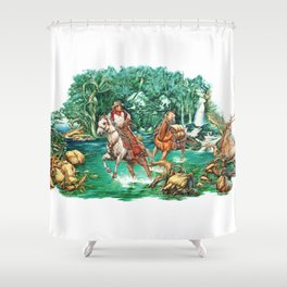Cowboy River Shower Curtain