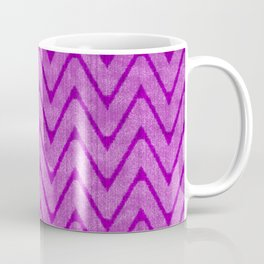 Vivid Purple Mauve Chevron Pattern Coffee Mug
