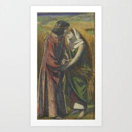Dante Gabriel Rossetti , Ruth and Boaz Art Print