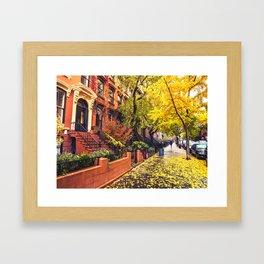 Autumn in Brooklyn Framed Art Print