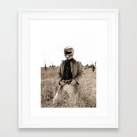 power ranger Framed Art Prints featuring Power Texas Ranger by Bakus