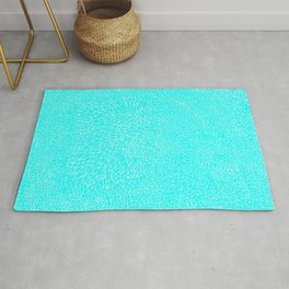 scales, white on lt blue Rug