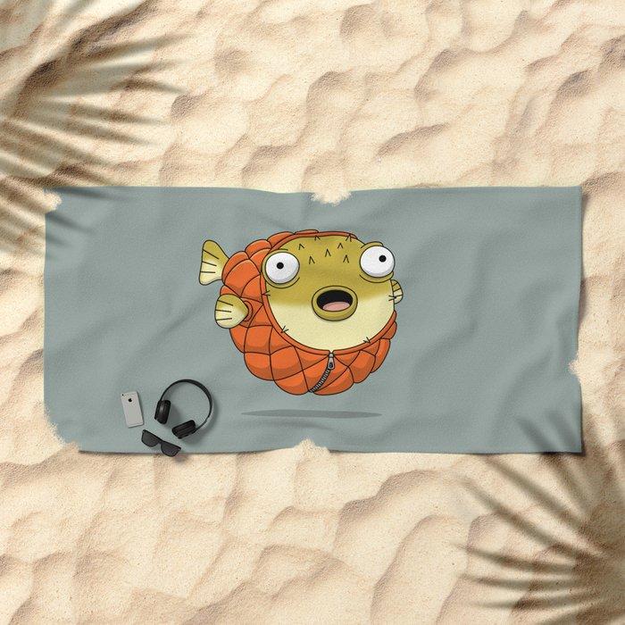 Puffer fish Beach Towel