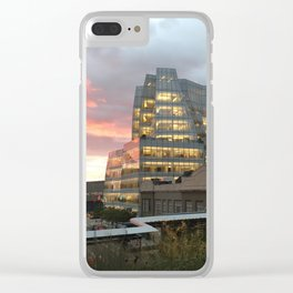 Sunset from the High Line Clear iPhone Case