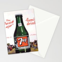 """Vintage Ads: 7Up """"The Fresh Up Family Drink"""" Stationery Cards"""