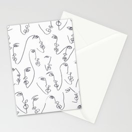 Twin Flames Black and White Stationery Cards
