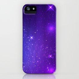 The Heavens Weep Purple Stars iPhone Case