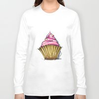 cupcake Long Sleeve T-shirts featuring Cupcake by Svitlana M