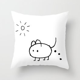 SHIT HAPPENS IN SUMMER Throw Pillow