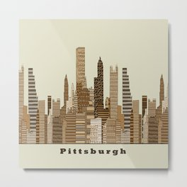 Pittsburgh skyline vintage Metal Print