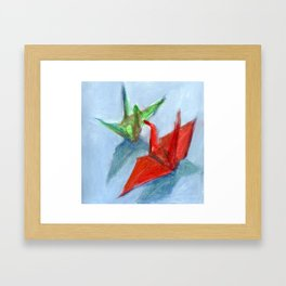 Origami Cranes Framed Art Print