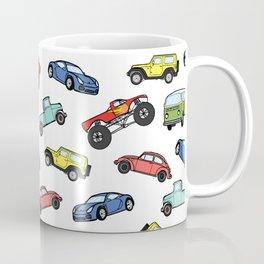 Cute Colorful Toy Car Illustration Pattern Coffee Mug