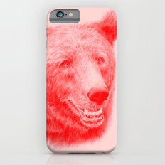 Brown bear is red and pink Slim Case iPhone 6s