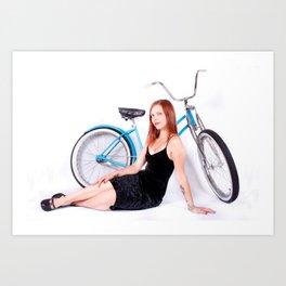 Bicycle Pinup Art Print
