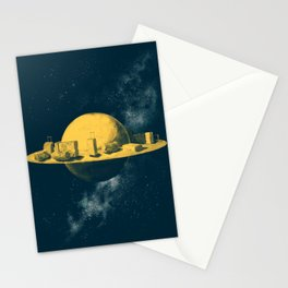 About space travels and living on Mars Stationery Cards