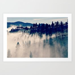 Mountaintop Living Art Print