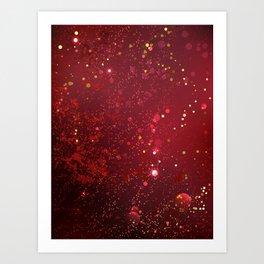 Background Color Marsala Art Print