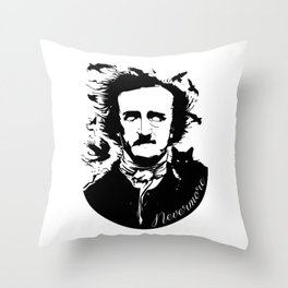 Edgar Allen Poe Throw Pillow