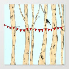 Festive Forest Canvas Print