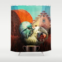 Snails escape Shower Curtain