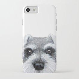 Schnauzer Grey&white, Dog illustration original painting print iPhone Case