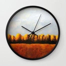 Treeline in Fall Wall Clock
