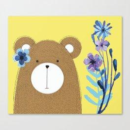 Flowers In My Hair Canvas Print
