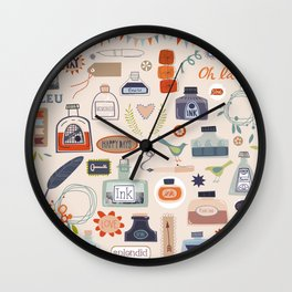 Ink and Things for Writers Wall Clock