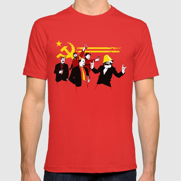 60709ae3 The Communist Party (original) T-shirt by tomburns | Society6