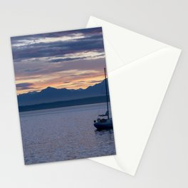 Moored for the Night Stationery Cards